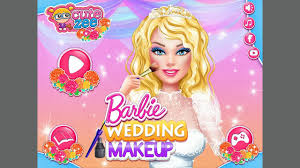 barbie wedding makeup baby disney princess cartoon video