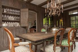 rustic dining table dining room eclectic with atlanta brown cherry