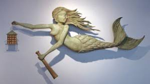 nautical contemporary mermaid wood marine carving