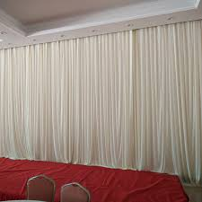 wedding backdrop led 3m 6m plain sheer white wedding drape wedding stage background