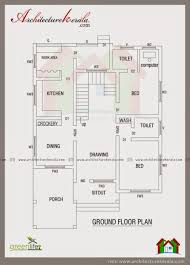 contemporary elevation and house plan architecture kerala