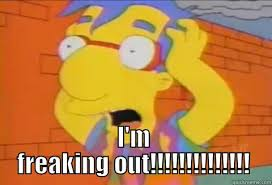 Millhouse Meme - the simpsons meme milhouse freaking out on bingememe