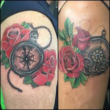 tattoo roses on shoulder rose flowers and nautical pocket watch tattoos on shoulder by
