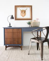 Mid Century Secretary Desk by Hurricane Mid Century Modern Desk Guest Post Country Chic Paint