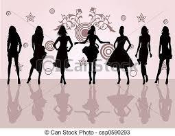drawings of fashion girls fashion girls csp0590293 search