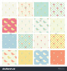 Home Decor Patterns Set Of Seamless Cute Childish Patterns In Bright Pastel Colors