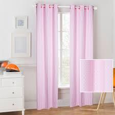 mainstays kids light pink polka dot coordinating window curtain