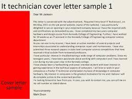 cover letter for it technician job marvellous design cover letter