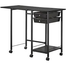 Stand Up Desk Ikea by Furniture Wood And Metal Portable Computer Desk With Pull Out