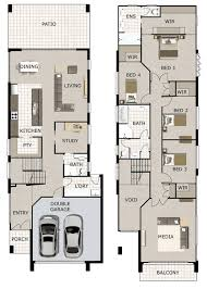 Narrow Block Floor Plans Linea Small Lot And Narrow Block Home Design By Gw Homes