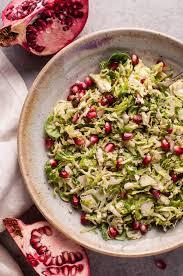thanksgiving salad pomegranate brussels sprouts salad u2022 salt u0026 lavender