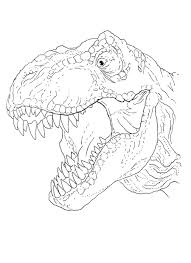 t rex head coloring page by stuntmanmike666 on deviantart
