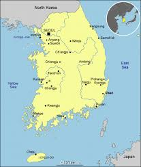 pusan on map south korea map map of south korea