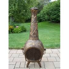 Chiminea Vs Fire Pit by Cast Iron Outdoor Fireplaces U0026 Fire Pits You U0027ll Love Wayfair