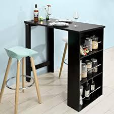 mange debout cuisine sobuy fwt17 sch table de bar mange debout table haute de cuisine
