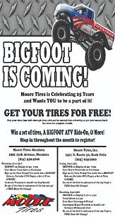 bigfoot monster truck schedule bigfoot is coming to moore tires at