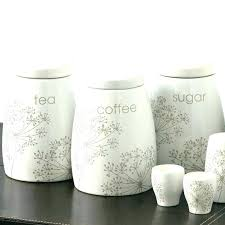 kitchen tea coffee sugar canisters ceramic kitchen storage black vintage ceramic tea coffee sugar