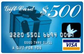 500 gift card 500 visa gift card