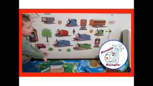 fun toddler activities decorating the train table wall with fun toddler activities decorating the train table wall with thomas and friends decals