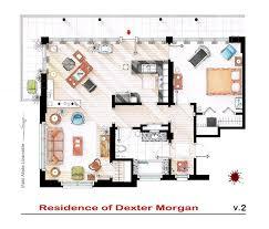 hand drawn floor plans of popular tv shows dexter trendland