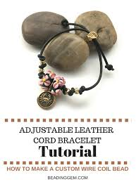 make leather cord bracelet images Adjustable leather cord bracelet tutorial basket of blue jpg