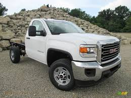 lifted white gmc 2015 gmc sierra 2500hd regular cab chassis in summit white