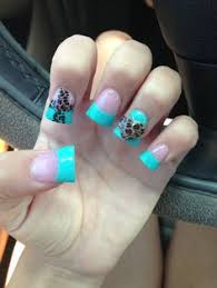 3d acrylic nail designs painted with gel nail polish for