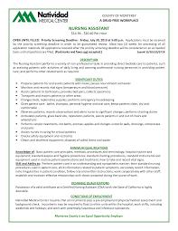 Computer Skills Resume Example 28 Cna Sample Resume Skills Cna Job Description For Nursing