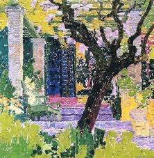 dappledwithshadow garden in san domenico augusto giacometti 1912 private collection painting oil on canvas height 69 cm in width 68 cm in