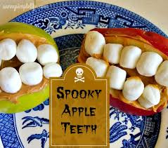 cuisine kidcraft simple spooky apple teeth kid craft