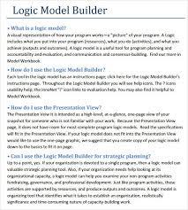 logic model templates pdf sample blank job application for teens