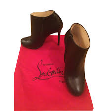 christian louboutin belle calf ankle boots leather black ref 23939