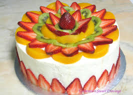 birthday cake with fruit topping image inspiration of cake and