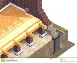 cross section of brick house stock illustration image 56341162