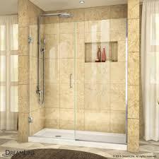 60 Shower Doors Unidoor Plus 53 60 1 2 Hinged Shower Door Dreamline