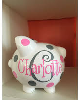 monogram piggy bank get this amazing shopping deal on large blush pink and silver