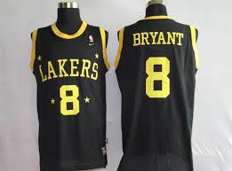 lakers 24 kobe bryant stitched black grey number nba jersey
