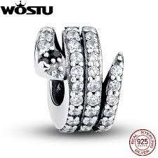 snake bracelet charms images European 925 sterling silver sparkling snake charm fit original jpg