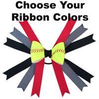 custom hair bows softball hair bows handmade from actual softball covers