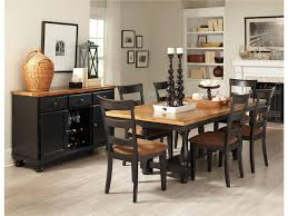 country style dining room sets with black painted dining table and