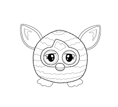 furby toy coloring pages for kids printable free pyssel