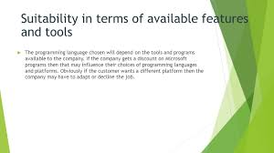 task 1 language choice by joshua wild ppt video online download