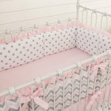 Navy And Coral Baby Bedding Bedroom Charming Crib Bumper Pads For Wonderful And Cozy Crib