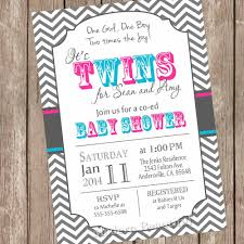 twins baby shower invitation twin twin boy boy and
