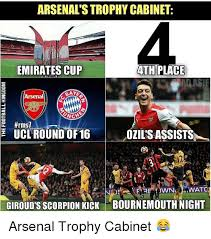Ozil Meme - arsenalstrophy cabinet emirates cup ath place alasif arsenal ucl