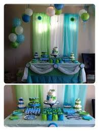 blue baby shower decorations baby shower or bday balloons streamers backdrop saving all the