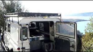 range rover defender interior land rover defender 110 overland camper pt2 interior youtube