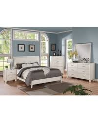deal alert acme furniture tyler 4 piece cream and white bedroom