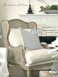 the essence of home cane wingback chair