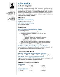 software engineer resume template templates curricula vitae résumés